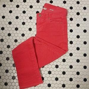 J Crew Matchstick City Fit Corduroy Pants Pink 26S